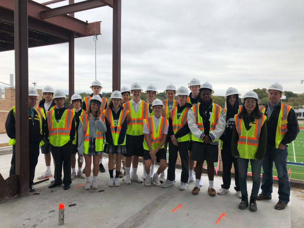 ESD's Engineering Class Gain Real World Insight on Construction Site